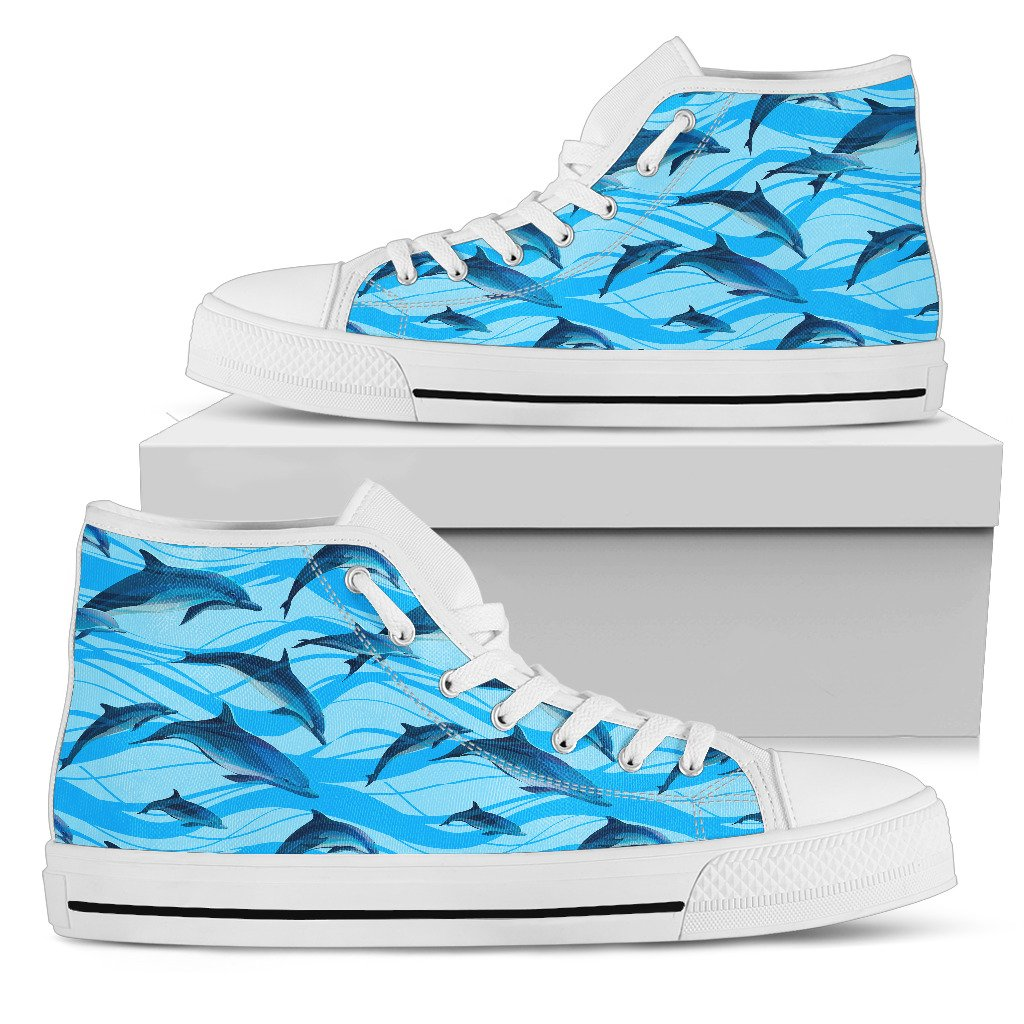Blue Dolphin Women High Top Canvas Shoes