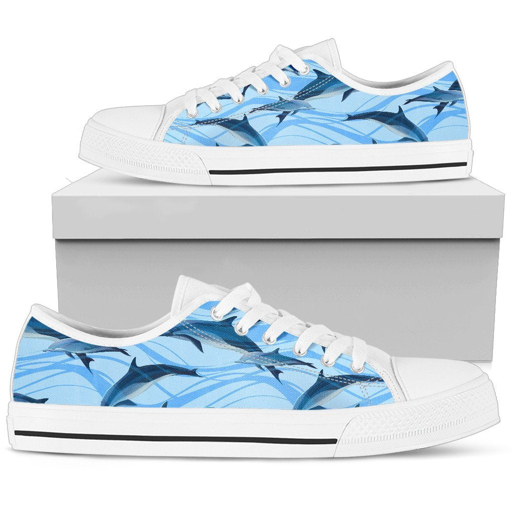 Blue Dolphin Women Low Top Canvas Shoes