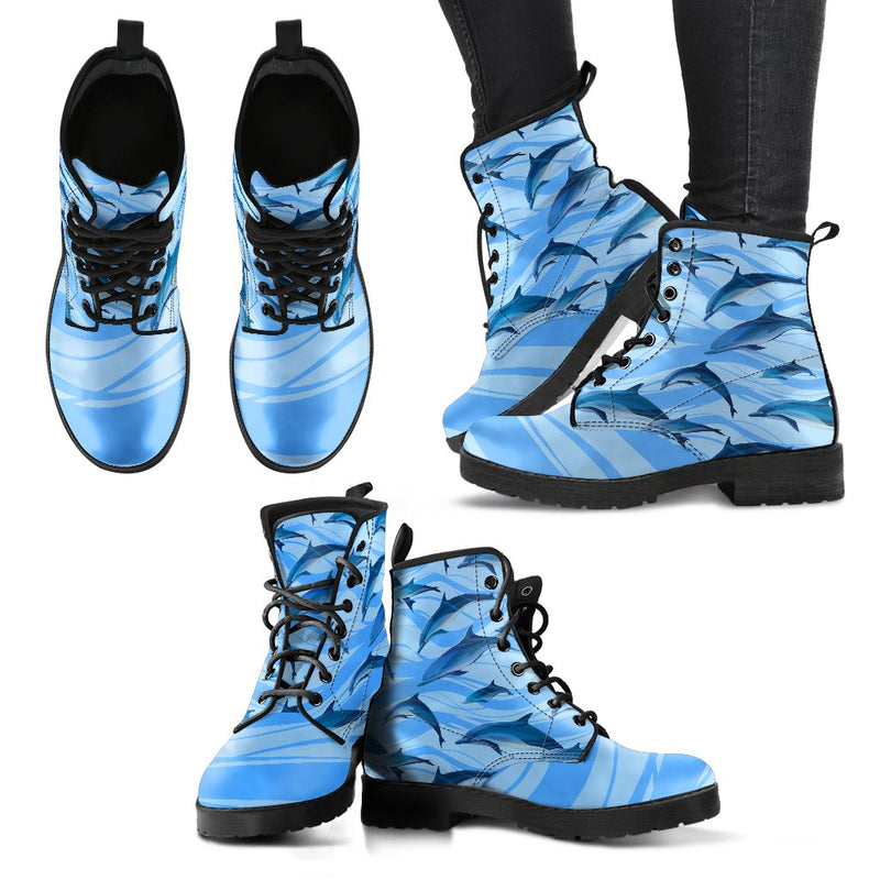 Blue Dolphin Women & Men Leather Boots