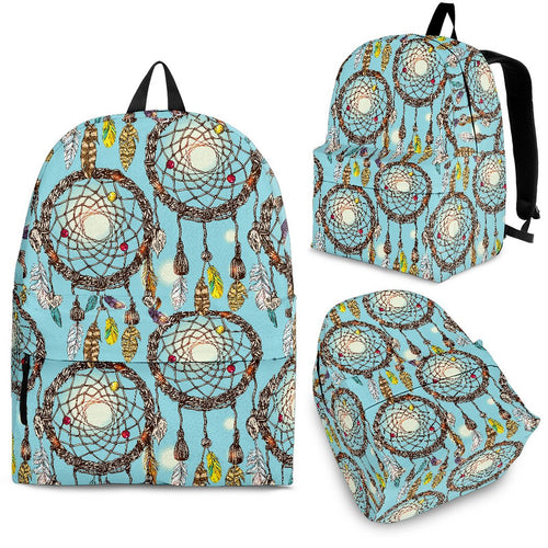 Blue Dream Catcher Premium Backpack
