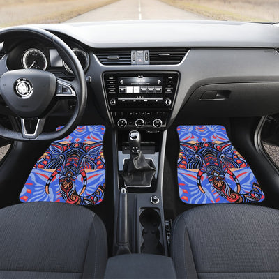 Blue Elephant Indian Mandala Car Floor Mats