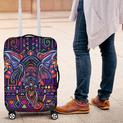 Blue Elephant Indian Mandala Luggage Cover Protector