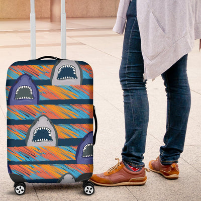 Blue Shark Pattern Luggage Cover Protector