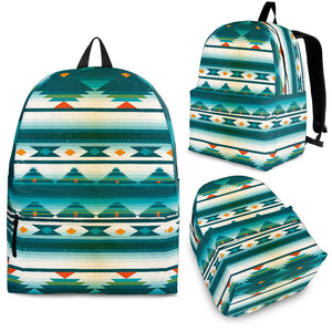 Blue Tribal Aztec Premium Backpack