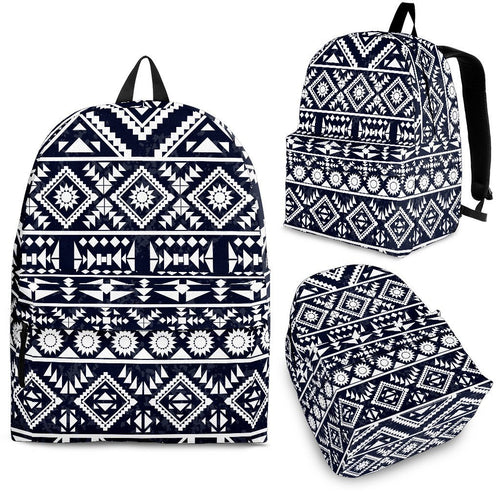 Black White Tribal Aztec Premium Backpack