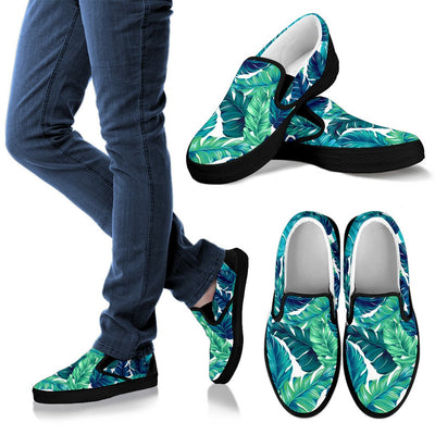 Brightness Tropical Palm Leaves Men Slip On Shoes