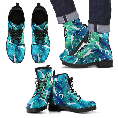 Brightness Tropical Palm Leaves Women & Men Leather Boots