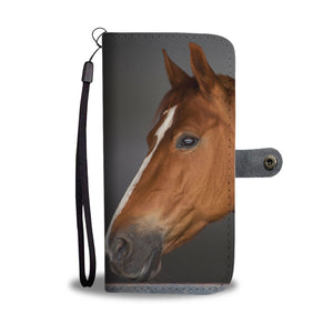 Brow Horse head Wallet Phone Case