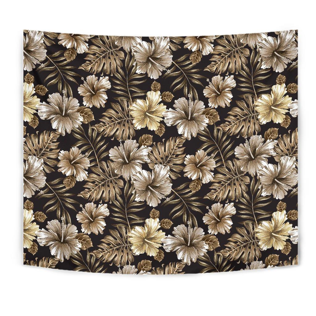 Brown Hibiscus Tropical Tapestry
