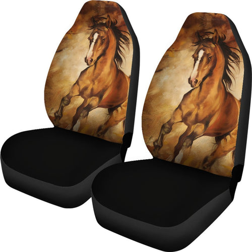 Brown Horse painting Universal Fit Car Seat Covers