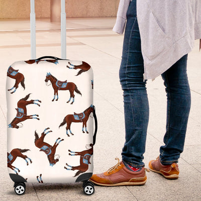 Brown Horse Pattern Luggage Cover Protector