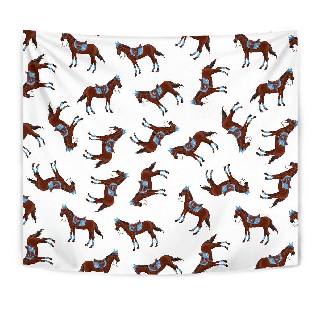 Brown Horse Pattern Wall Tapestry