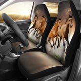Brown Horses Universal Fit Car Seat Covers