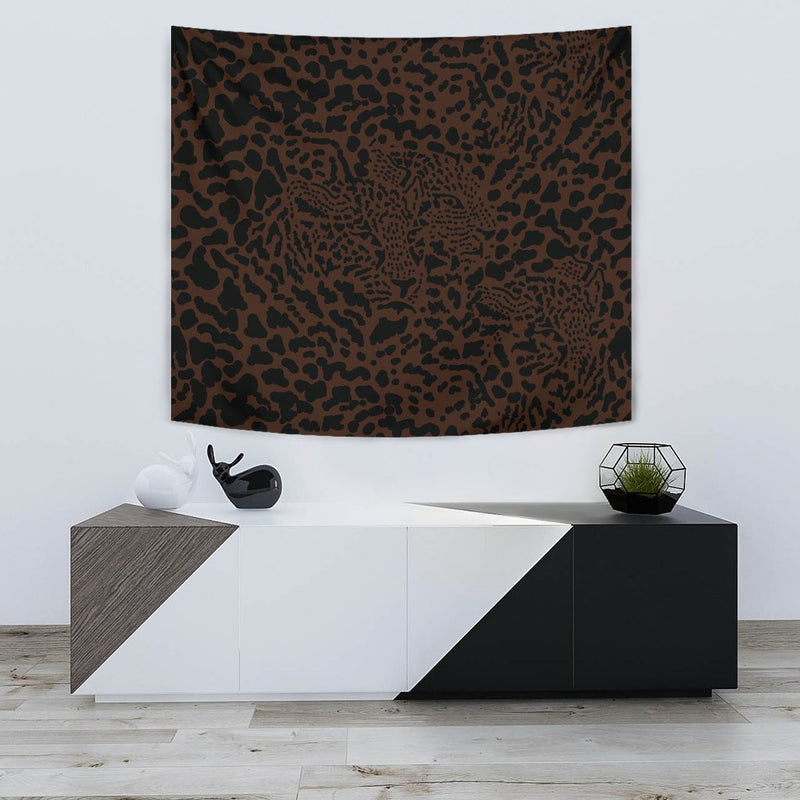 Brown Leopard Wall Tapestry