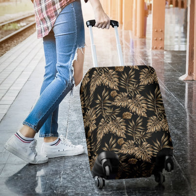 Brown Tropical Palm Leaves Luggage Protective Cover