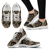 Brown Tropical Palm Leaves Women Sneakers