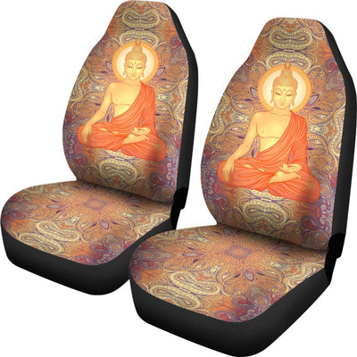 Buddha Indian Colorful Print Universal Fit Car Seat Covers