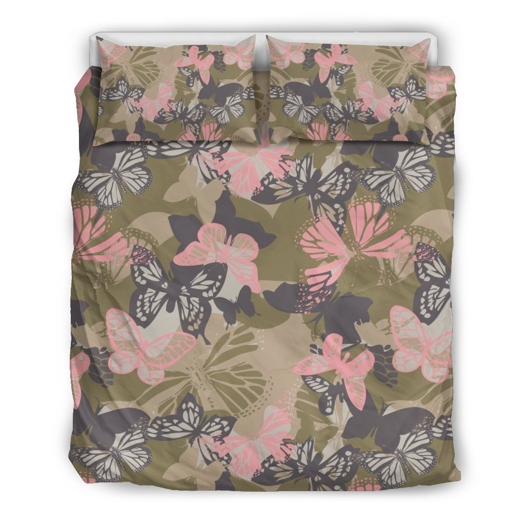 Butterfly camouflage Duvet Cover Bedding Set