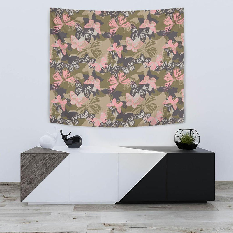 Butterfly camouflage Tapestry