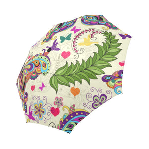 Butterfly Colorful Indian Style Automatic Foldable Umbrella