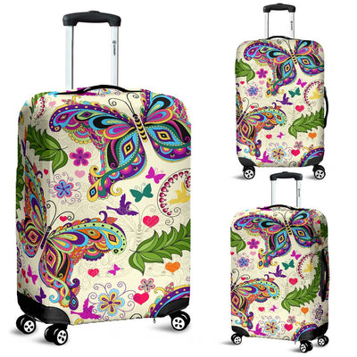 Butterfly Colorful Indian Style Luggage Cover Protector