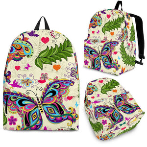 Butterfly Colorful Indian Style Premium Backpack