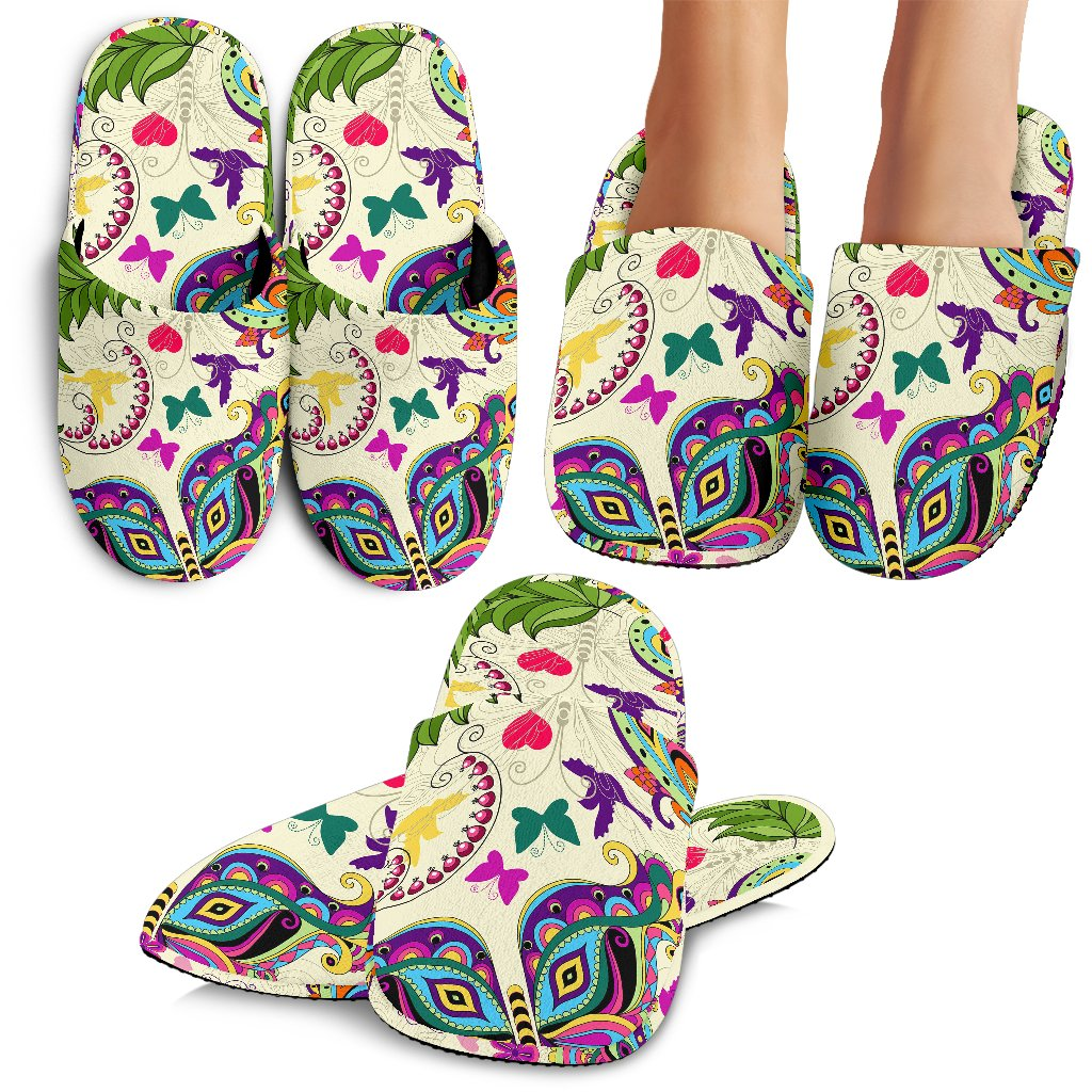 Butterfly Colorful Indian Style Slippers