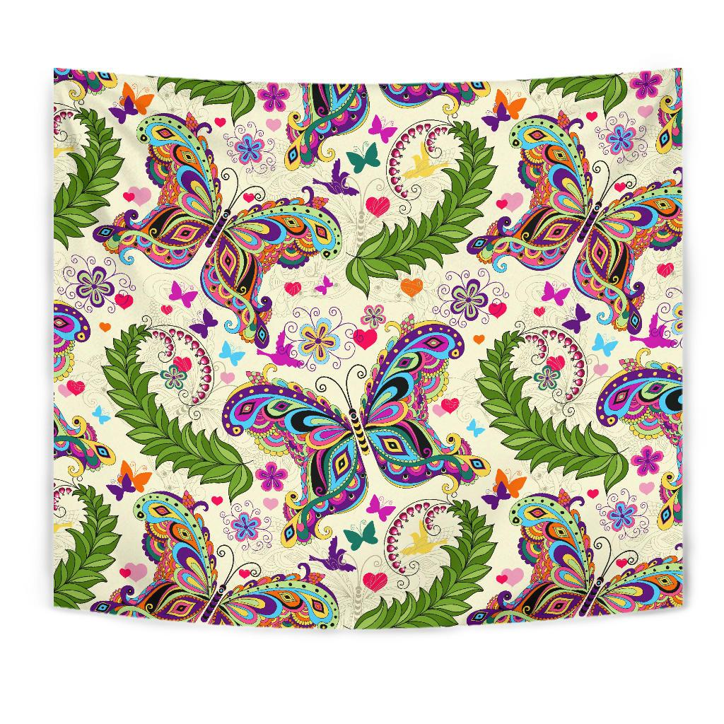 Butterfly Colorful Indian Style Tapestry