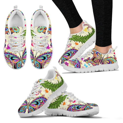 Butterfly Colorful Indian Style Women Sneakers