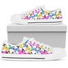 Butterfly Colorful Men Low Top Canvas Shoes