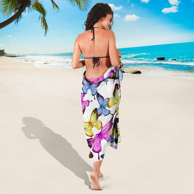 Butterfly Colorful Beach Sarong Pareo Wrap
