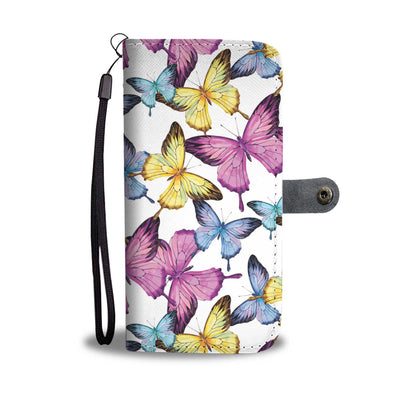 Butterfly Colorful Wallet Phone Case