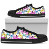 Butterfly Colorful Women Low Top Canvas Shoes