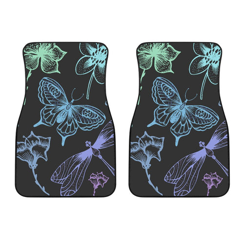 Butterfly Dragonfly Car Floor Mats