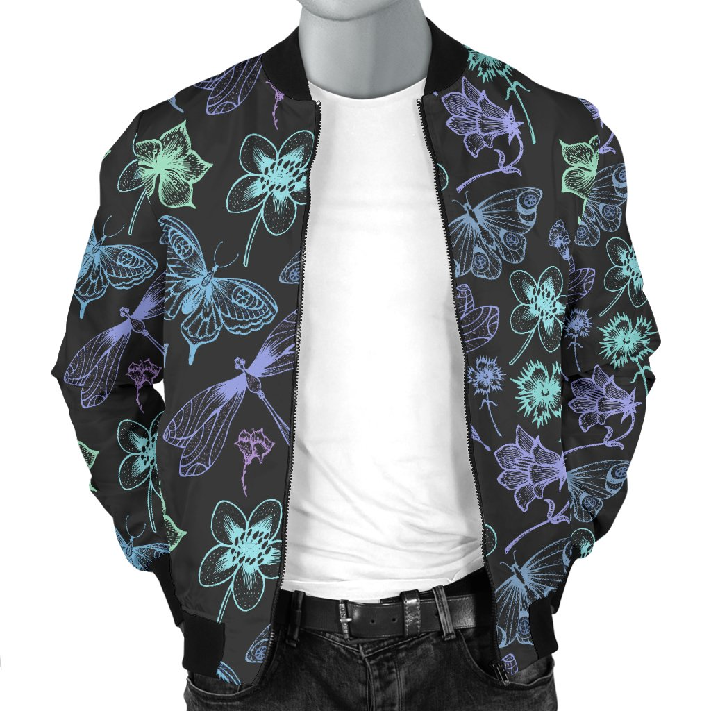 db216c28b203 Butterfly Dragonfly Men Casual Bomber Jacket – JorJune
