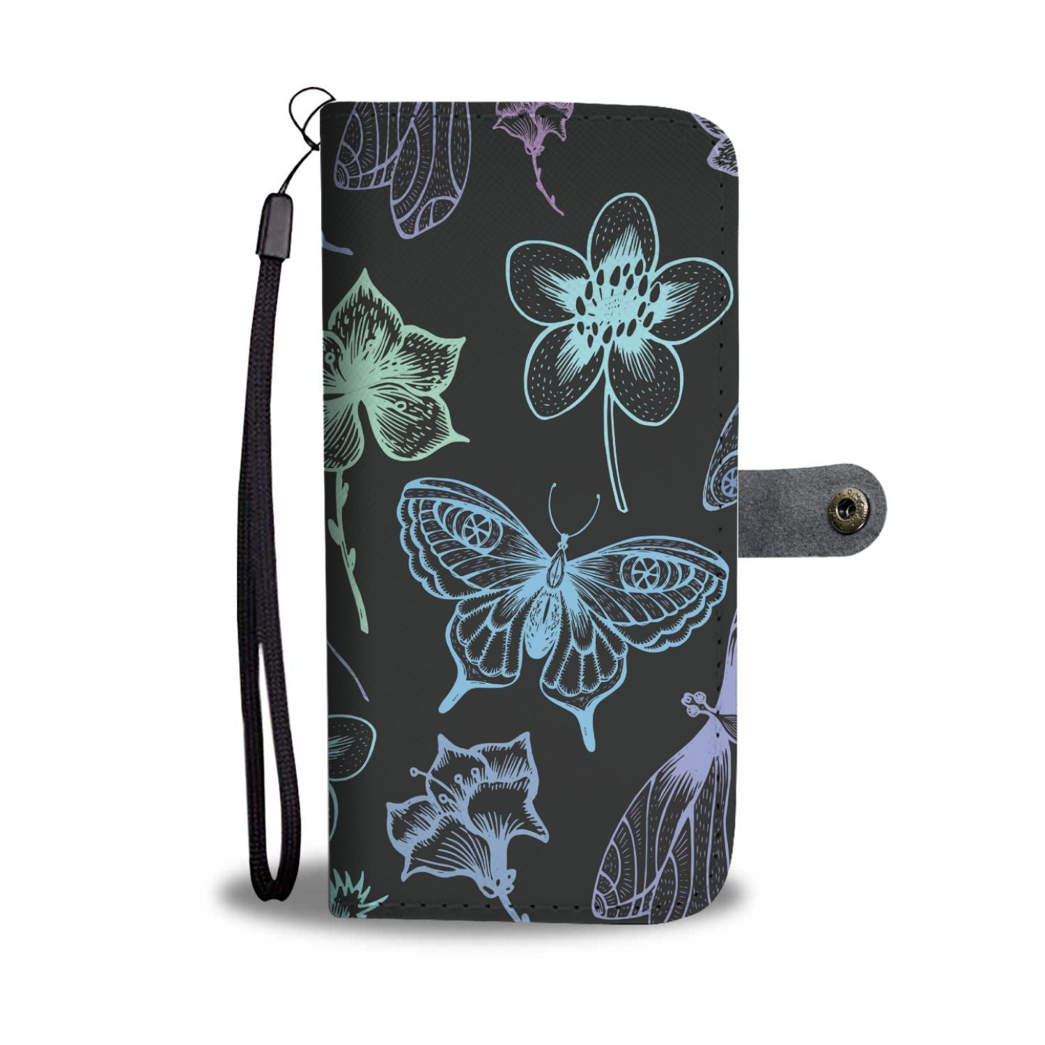 Butterfly Dragonfly Wallet Phone Case