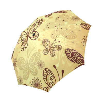 Butterfly Mandala Automatic Foldable Umbrella