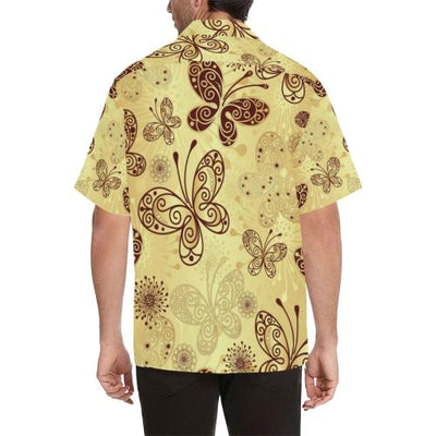 Butterfly Mandala Men Hawaiian Shirt