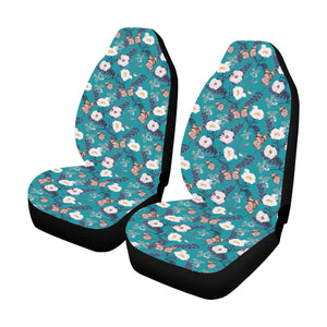 Butterfly Pattern Print Design 012 Car Seat Covers (Set of 2)-JORJUNE.COM