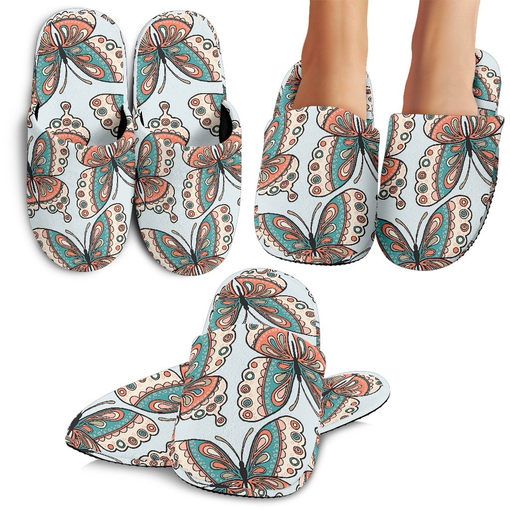 Butterfly Pattern Slippers