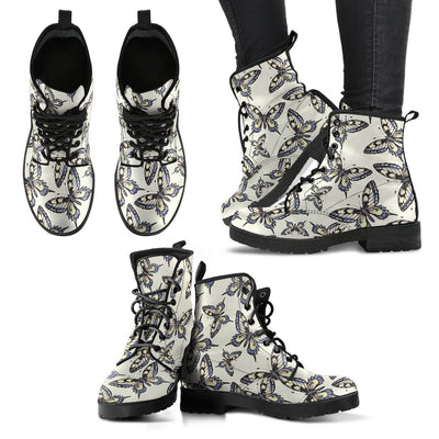 Butterfly Women & Men Leather Boots