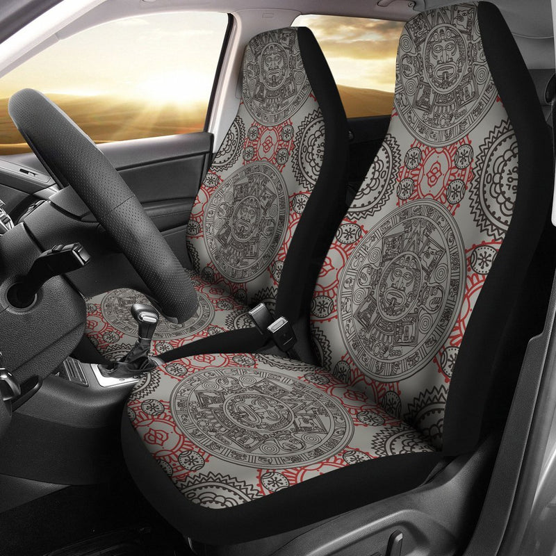 Calendar Aztec Style Print Pattern Universal Fit Car Seat Covers