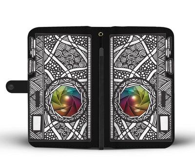 Camera aztec style Wallet Phone Case