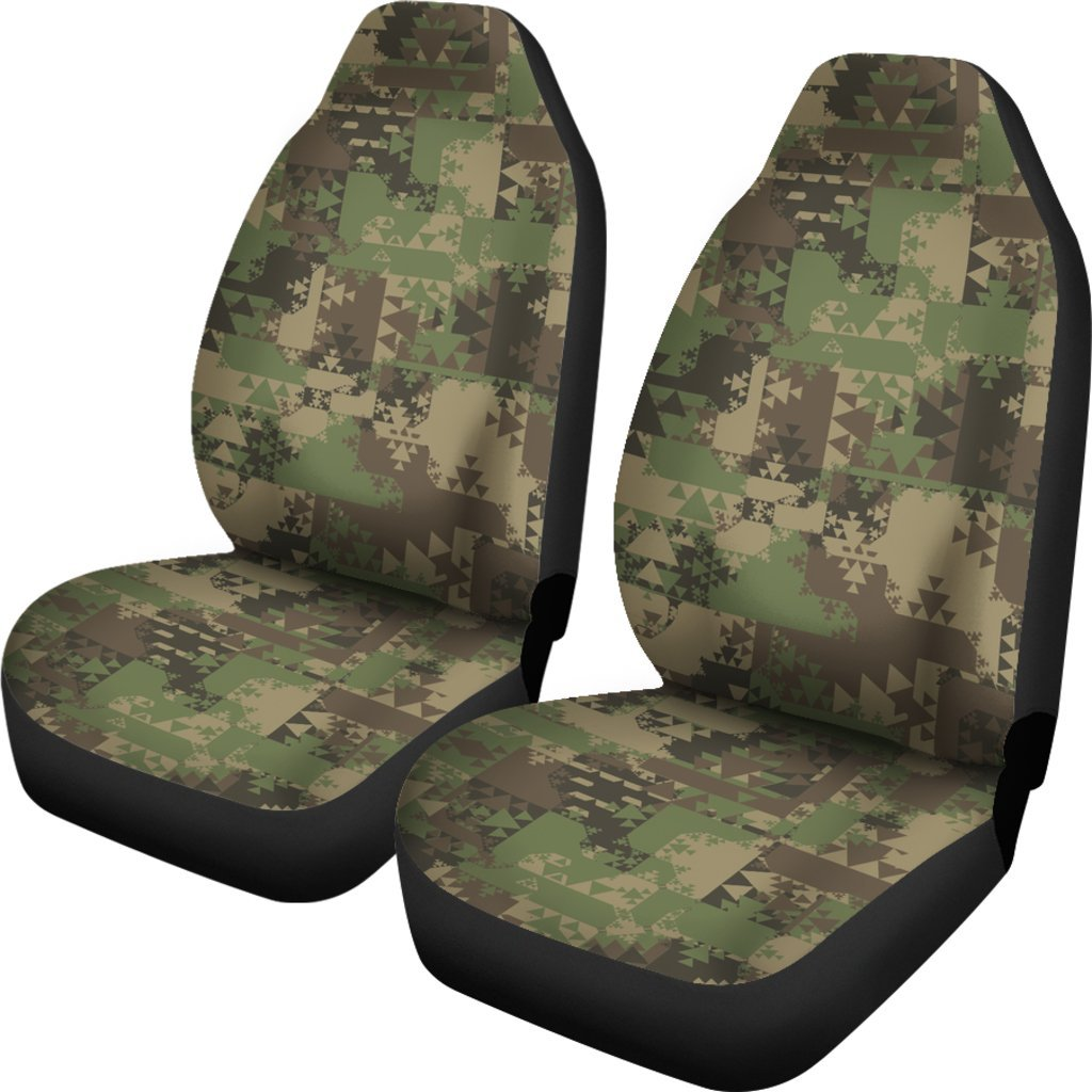 Camouflage Aztec Green Army Print Universal Fit Car Seat Covers