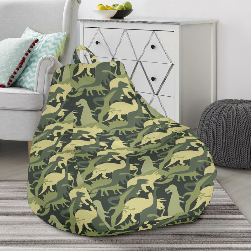 Camouflage Dinosaur Pattern Print Design 03 Bean Bag Chair-JORJUNE.COM