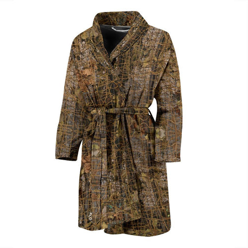 Camouflage Realtree Pattern Print Design 01 Men Bathrobe-JORJUNE.COM