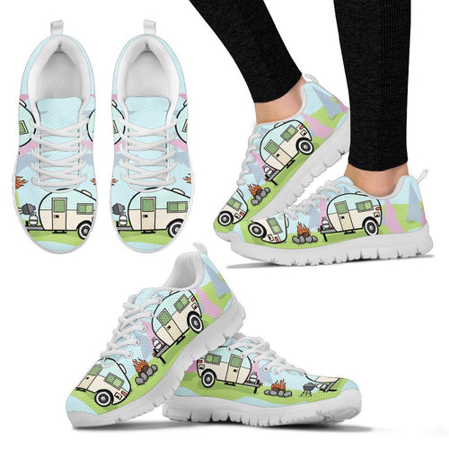 Camper Campfire Camping Women Sneakers