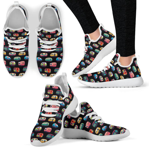 Camper Camping Pattern Mesh Knit Sneakers Shoes