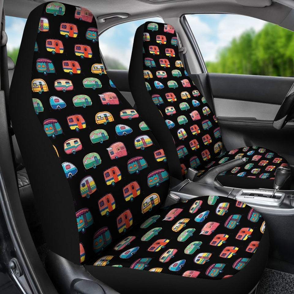 Camper Caravan pattern Universal Fit Car Seat Covers