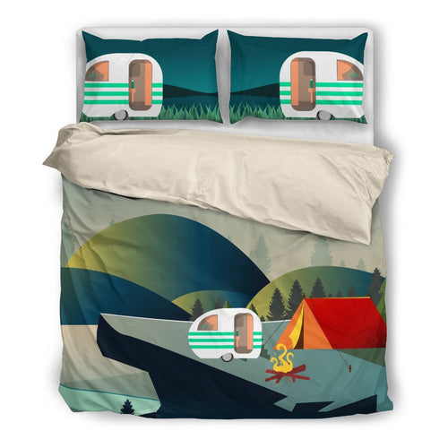 Camper Caravan Tent Duvet Cover Bedding Set